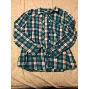 Eddie Bauer blue flannel shirt size XL